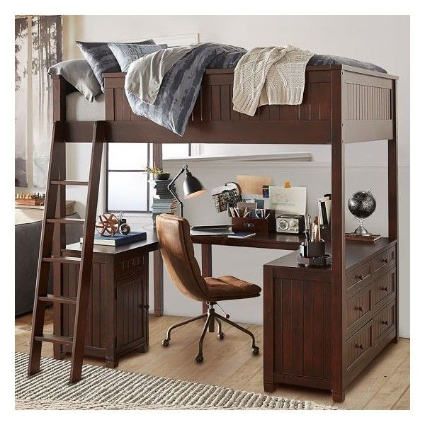 pb teen beadboard loft bed chiffonier set simply white full liked on polyvore featuring home furniture beds white full bed full size