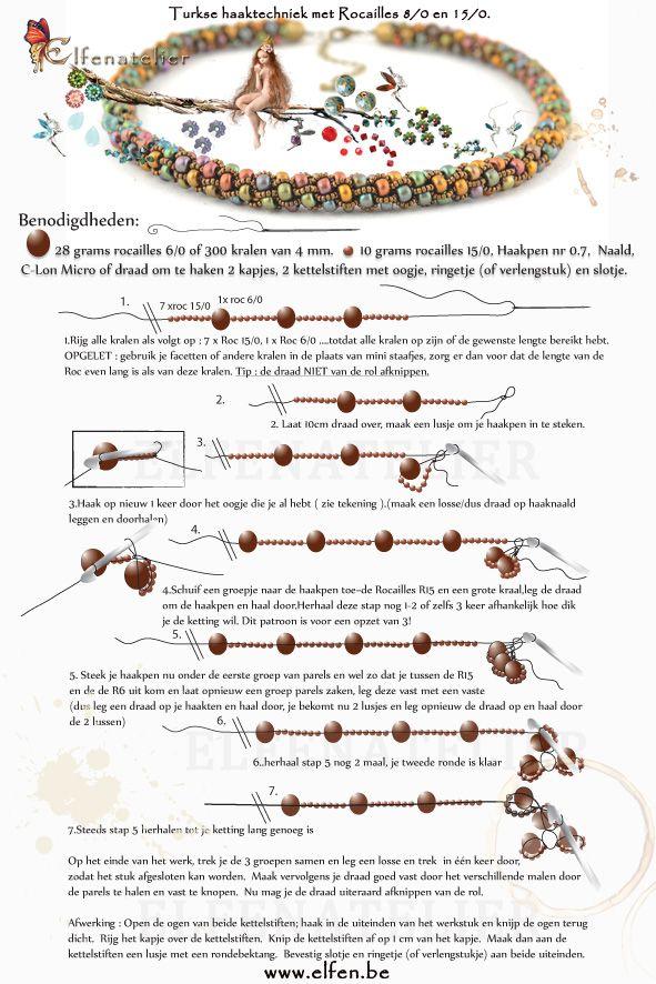 Elfenatelier - Turkish crochet bracelet.  A bit of a challenge.   Lirigal.com has a nice (albeit not English) video showing the process: http://www.youtube.com/watch?v=DipRVonvYM8  #Seed #Bead #Tutorials