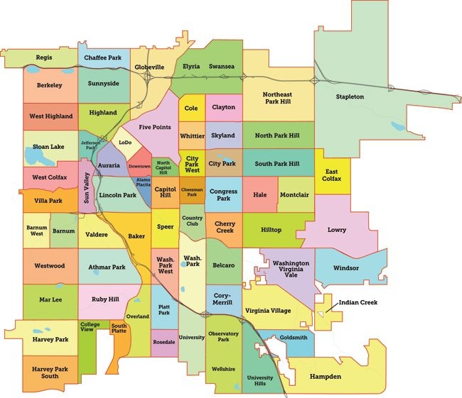 Denver Neighborhoods. Babe And I Live Only Two Nabes Away