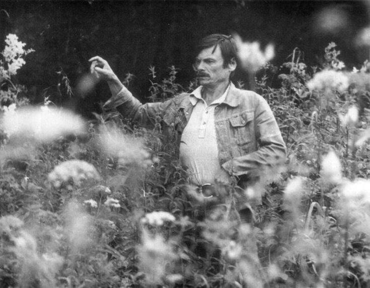 Andrei Tarkovsky on the set of Stalker