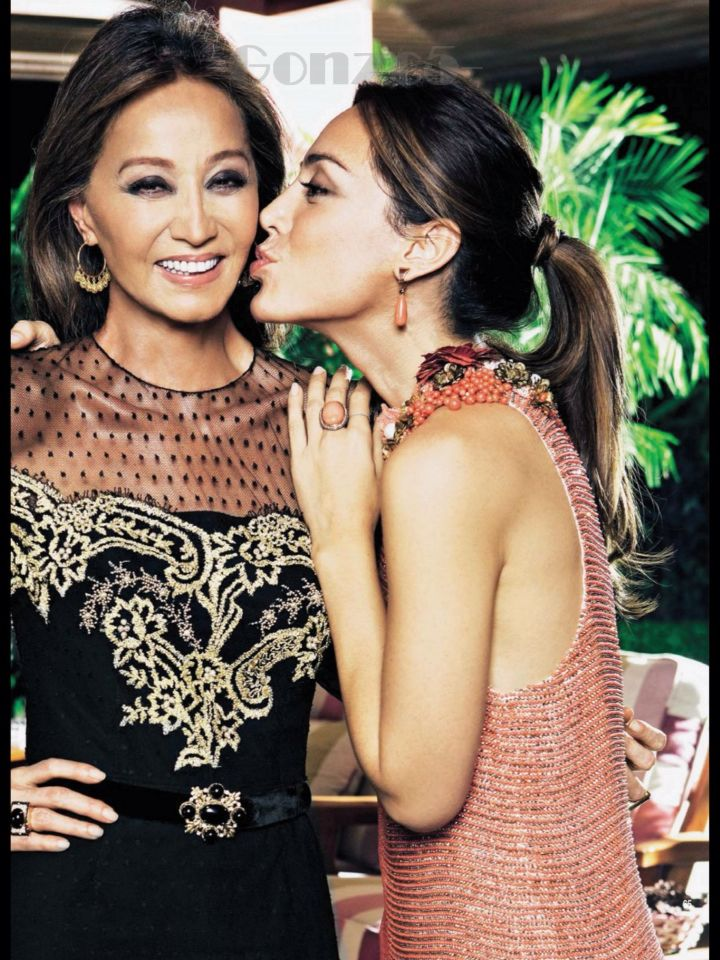 Isabel Preysler and Tamara Falco