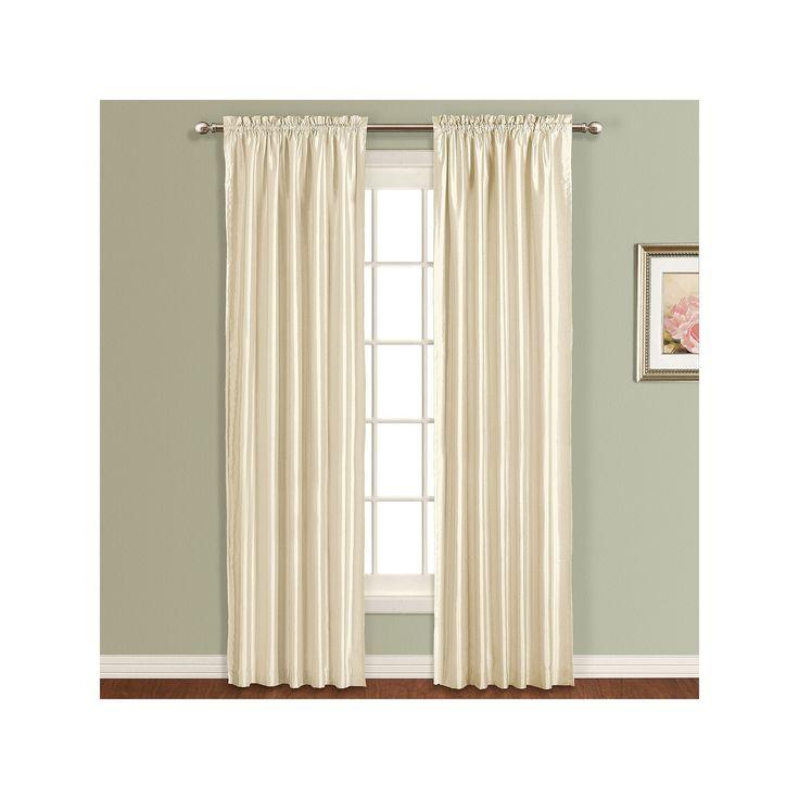 United Curtain Co. Lincoln Lined Curtain, Beig/Green (Beig/Khaki)