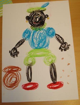 Schrijfdans met Zwarte Piet