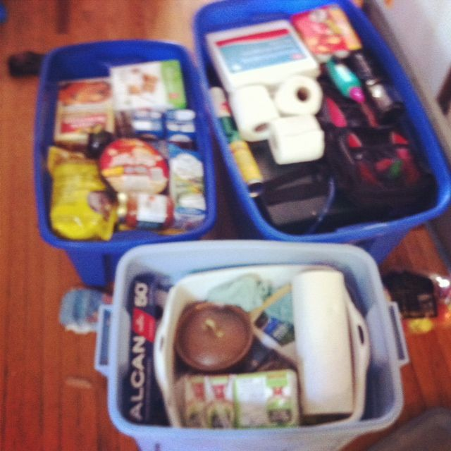 Making a camp kitchen, menu planning and food storage   Picnic