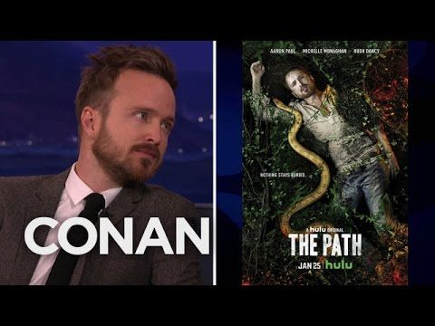 Aaron Paul: I Have A Terrible Gag Reflex  - CONAN on TBS
