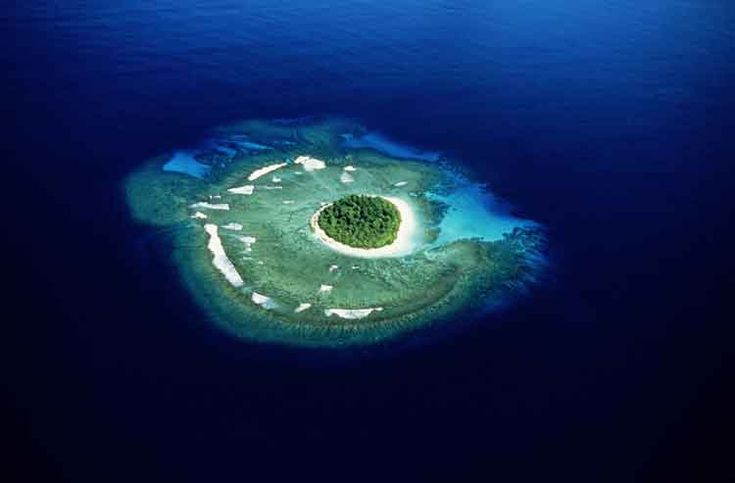 Aerial view of an island in the Vava'u group in Tonga. Image by Peter Hendrie / Stone / Getty Images.