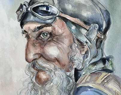 """Check out new work on my @Behance portfolio: """"Old biker"""" http://on.be.net/1INHW3k"""
