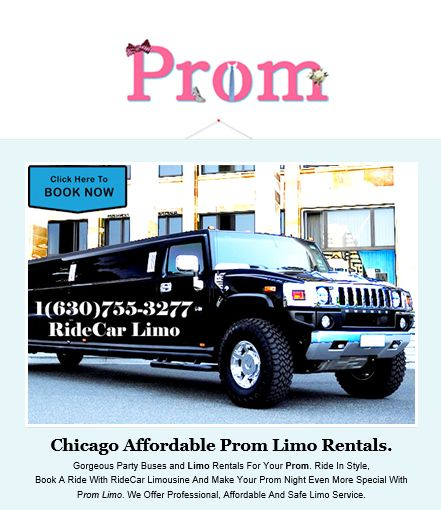 Chicago Affordable Prom Limo Rentals. Gorgeous Party Buses