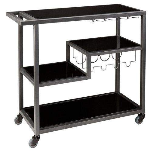 $131 Found it at Wayfair - Zephs Serving Cart with Glass Top