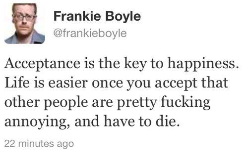 Frankie Boyle key to happiness