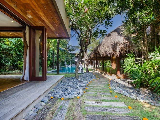 Villa Yoga | 7 bedrooms with 5, 6, 7 rental option | Seminyak, Bali #swimmingpool #garden #bedroom #modern #villa #exterior #bali #holiday #yoga #family #friends #retreat