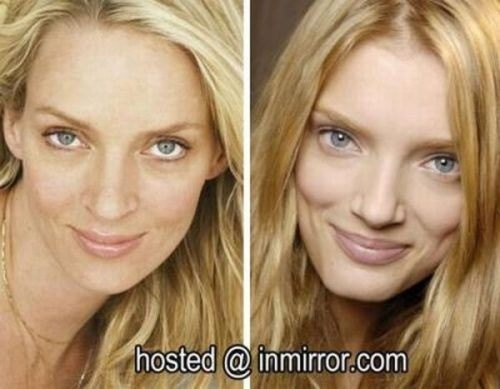 celebs that look-alike Uma thurman and Lily Donaldson