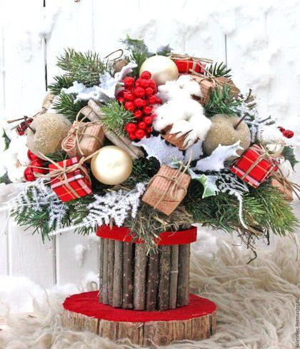 Купить или заказать Яблочный букет в интернет-магазине на Ярмарке Мастеров. Зимний букет с сахарными яблочками и палочками корицы.