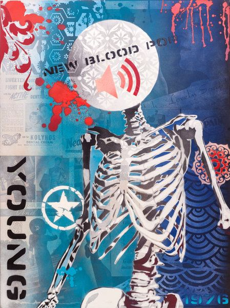 Artfind.co.nz - Artwork - MIXED MEDIA - Human Skeleton 1.1 by Brad Novak  Dani Stoop. Brad Novak also does this.
