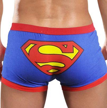 Hommes de Sous-Vêtements de Faible hauteur Coton Mignon de Bande Dessinée Superman Slip Boxers Pour Homme Cuecas Shorts En Gros Pas Cher Vente Chaude PJ2014(China (Mainland))