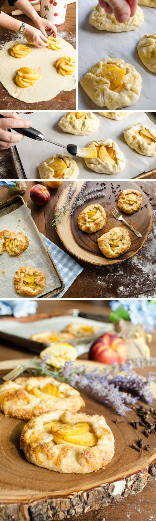Looking for an easy alternative recipe to homemade peach pie? Try these easy peach mini galettes. They'll satisfy your dessert craving without all the work of a traditional pie.