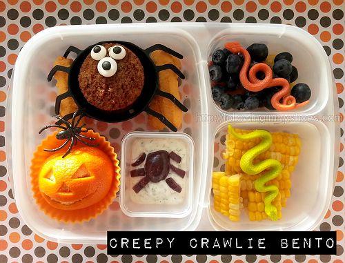 Creepy Crawlie Bento #iheartlunch #halloween #bento