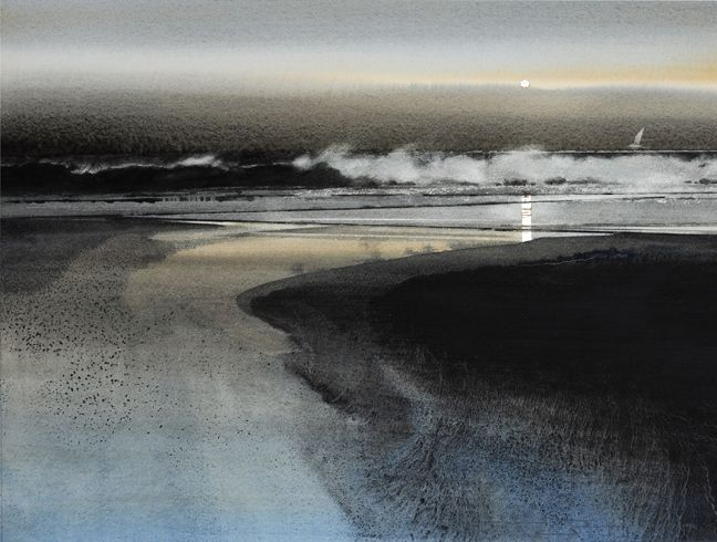 SEASCAPES - NAOMI TYDEMAN RI #watercolor jd