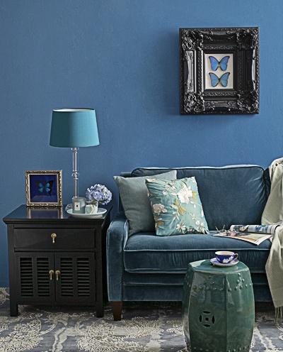 I love velvet sofas