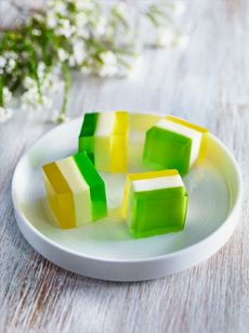 Green and Gold Jelly Bites