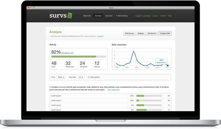 Survs – Online Survey Tool, Questionnaire Software