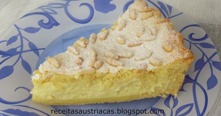 Muito apreciada na região da Toscana e Ligúria, esta torta é divina!!!   Para os meus amigos italianos!!!   Os Pinolis eu recebi da minha a...