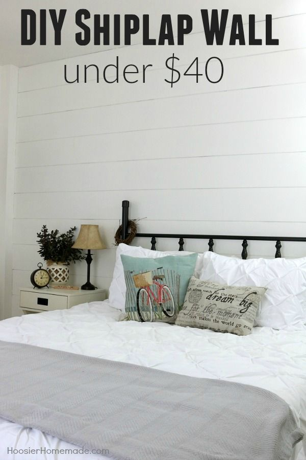 Are you in love with the show Fixer Upper? Do you love Shiplap Walls? Wish you could have one? Well now you can! Follow these easy instructions and transform your own space for UNDER $40 with this DIY