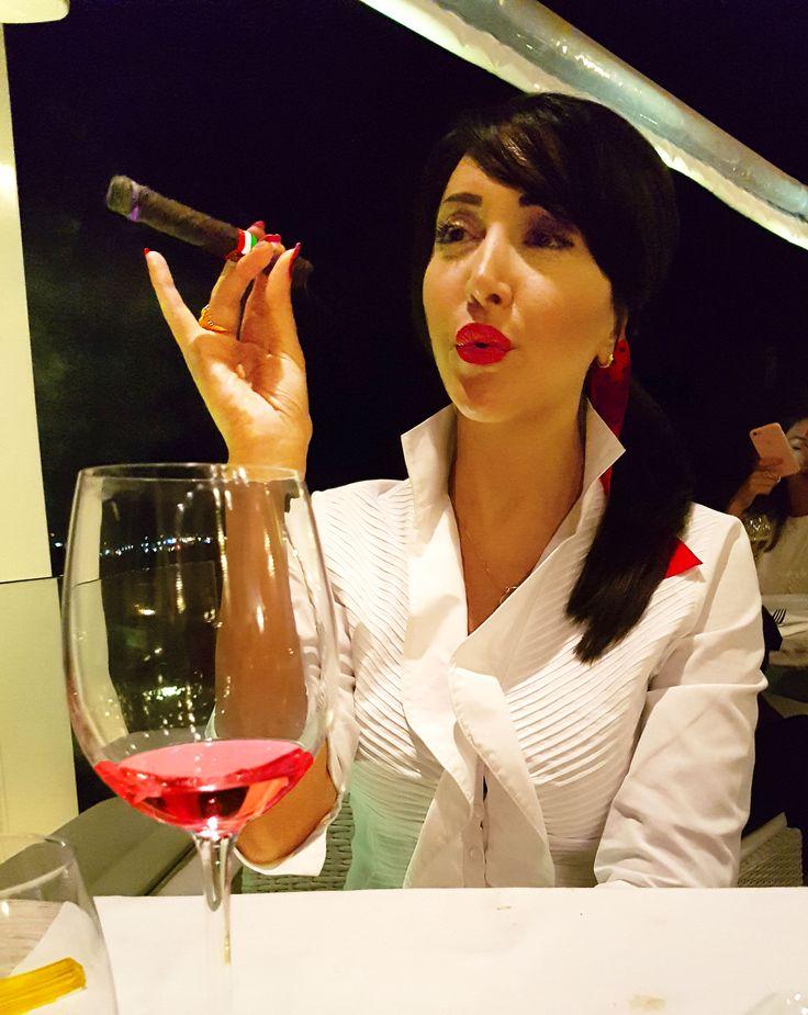 My daring side smoking my Toscana Cigar in Ibiza wearing my #RomanColosseum dress-shirt