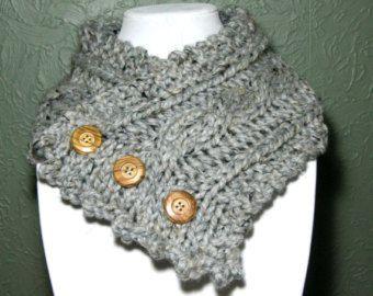 Knitting Pattern câblé cache-cou par HomeMadeOriginals sur Etsy