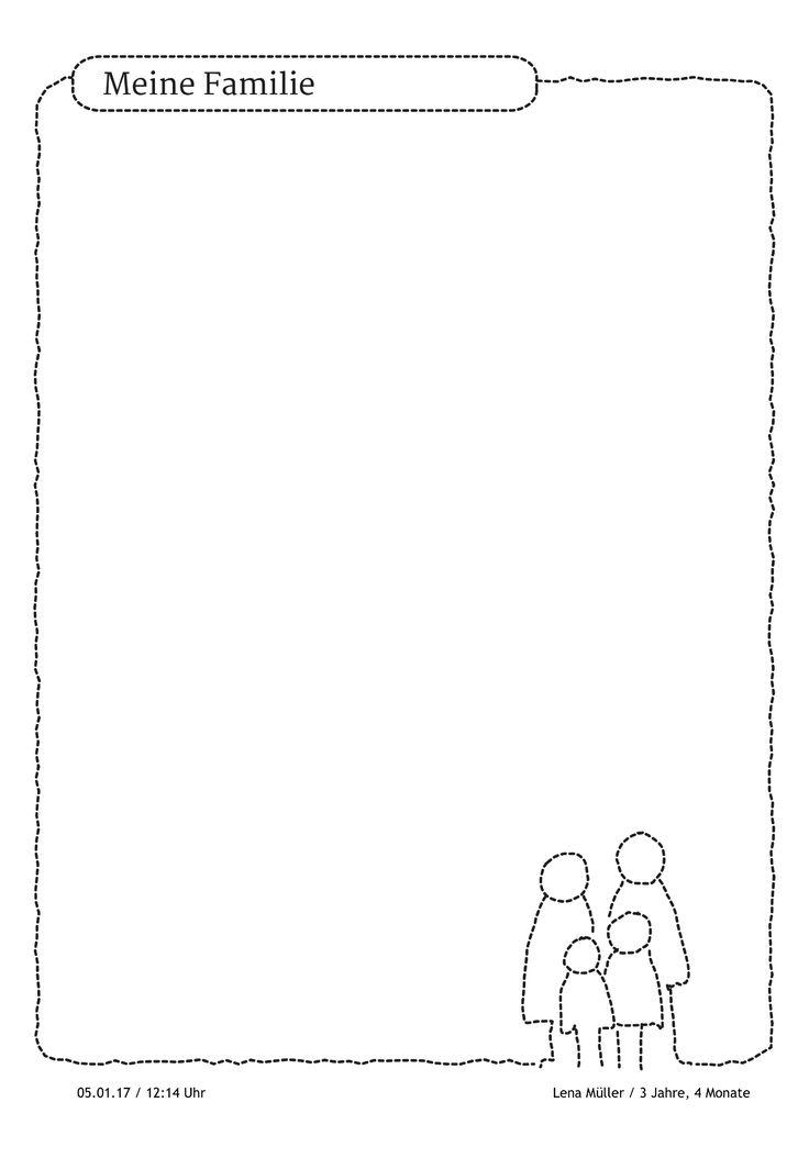 Portfoliovorlage für Geschichten rund um die Familie. https://stepfolio.de/ #Familie #Family #dassindwir #Portfolioeintrag #Portfolio #Kinder #Kindergarten #Kitaapp #stepfolio
