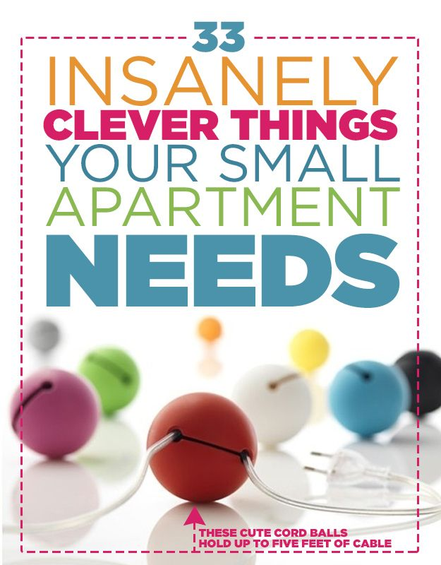 33 Smart Things Your Small Apartment Needs - http://diyideas4home.com/2014/01/33-smart-things-small-apartment-needs/