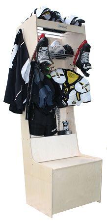 Hockey team equipment locker, lacrosse team equipment locker, goalie equipment locker,  drying, dry equipment, sport locker,custom locker, custom locker room, dressing room, stall, Prostall, football, soccer, football equipment