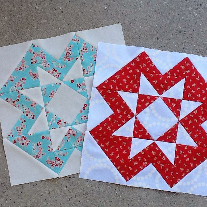 melrosecakes: Block 12 Star Cross by Elaine Theriault from Crazy Quilter on a Bike. #thecanadiansampler @sewsistersquiltshop @crazyquilteronabike