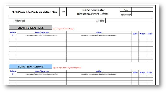 Performance Action Plan Sample How To Say It  Ways To Put Your