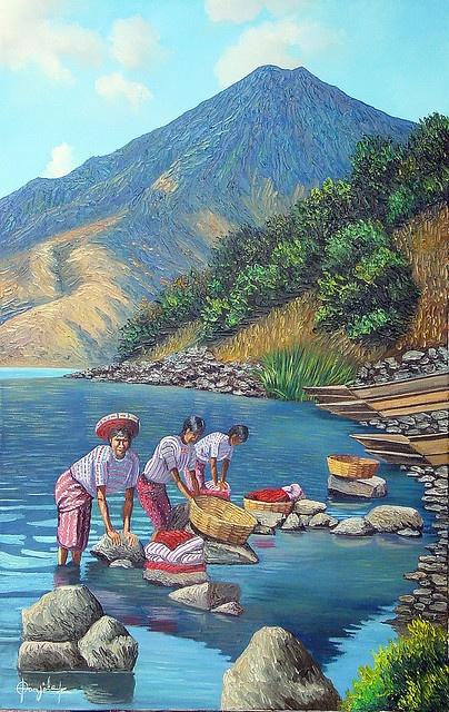 Guatemala - Santiago Atitlan by Lake Atitlan, via Flickr