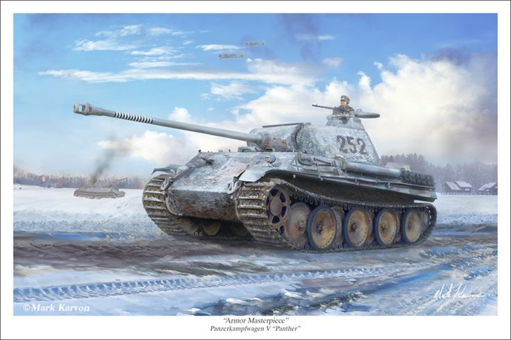 Armor Masterpiece by markkarvon on DeviantArt - Ausf G version of the Panther in winter camouflage on the Eastern front.