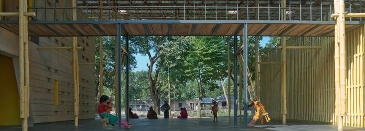 SchilderScholte architects, Community Center, Rajarhat, Bangladesch, foundation Pani, Gemeindezentrum, Bambus