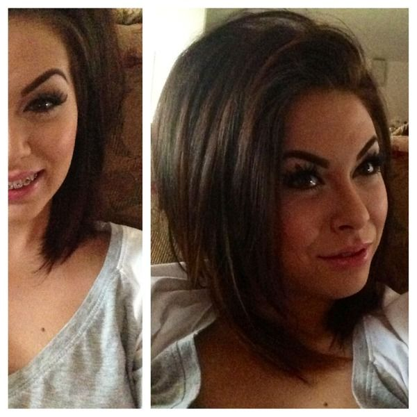Long Bob With Face Framing Layers On Becca Mitchell From