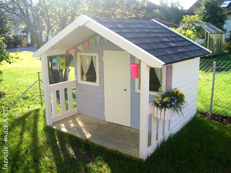 Kinderspielhaus Holz Streichen ~ Gartenhaus, Spielhaus, Kinderspielhaus, Kindergartenhaus, DIY, selber