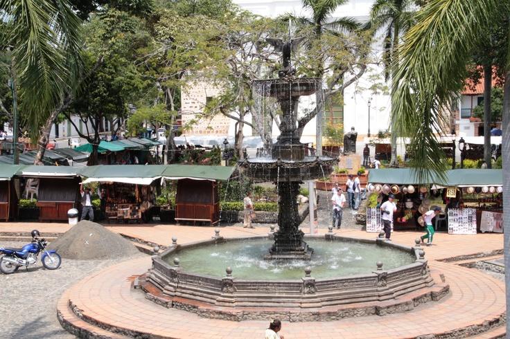 La fuente de la plaza principal
