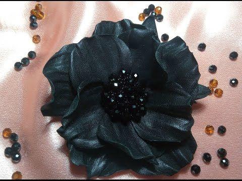 Цветы из кожи мк с острыми лепестками из квадратов. Leather Часть1 - YouTube