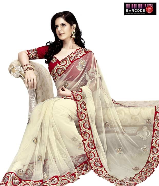 Get the serene look with Red Net-Raw Silk Saree  http://www.snapdeal.com/product/women-apparel-sarees/DesignerWe-86812?pos=15;1219?utm_source=Fbpost_campaign=Delhi_content=189355_medium=180512_term=Prod