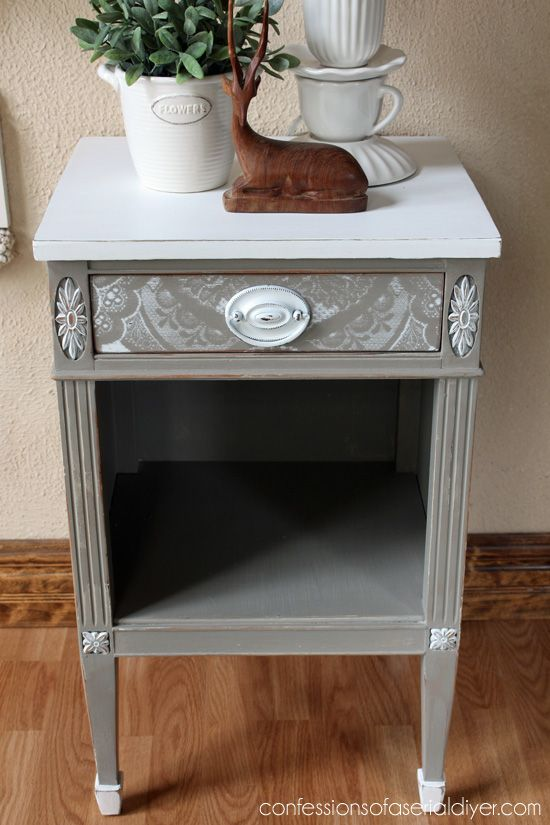 Lacey Drawer Side Table Painted Tableswood