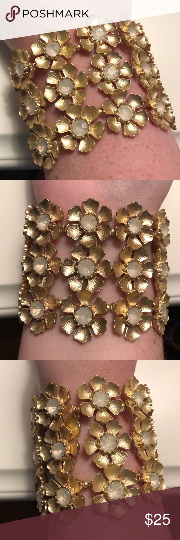 Susan Graver Flower Cuff Bracelet Never worn! Susan Graver Jewelry Bracelets