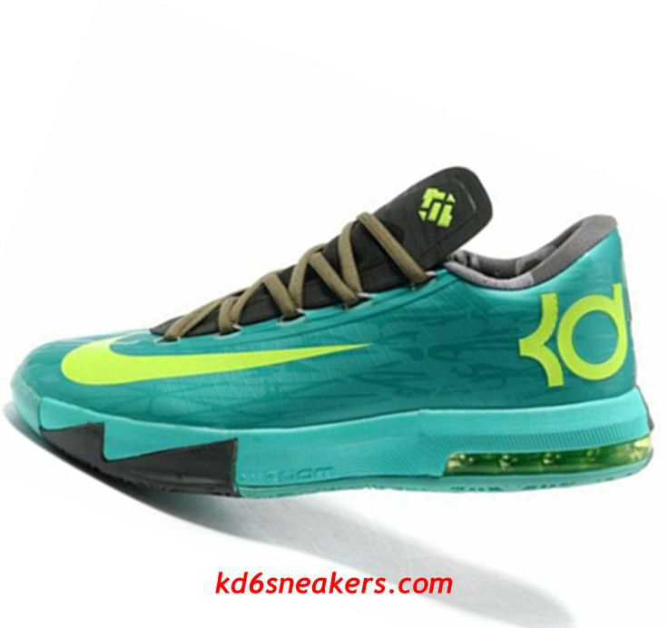 Nike KD VI 6 black green Kevin Durant Basketball shoes #KD