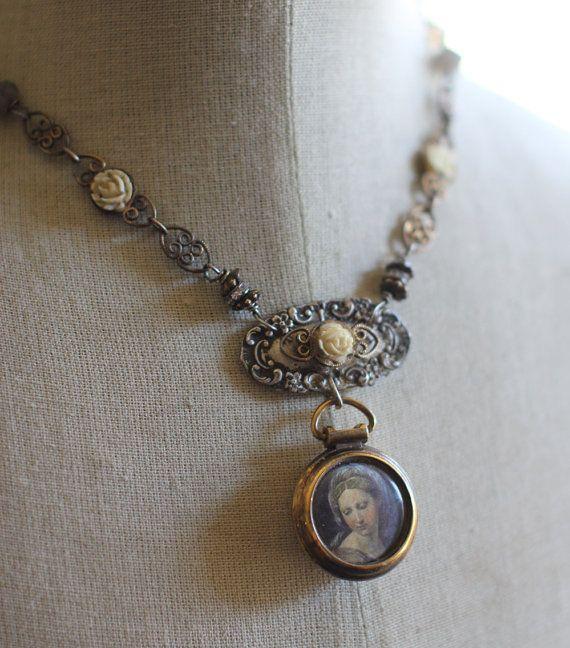 Assemblage vintage necklaceVia Delorosaportrait by crownedbygrace, $112.00