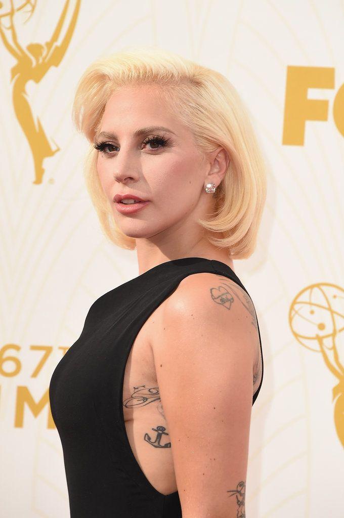 Lady Gaga at the Emmy Awards 2015 | POPSUGAR Celebrity