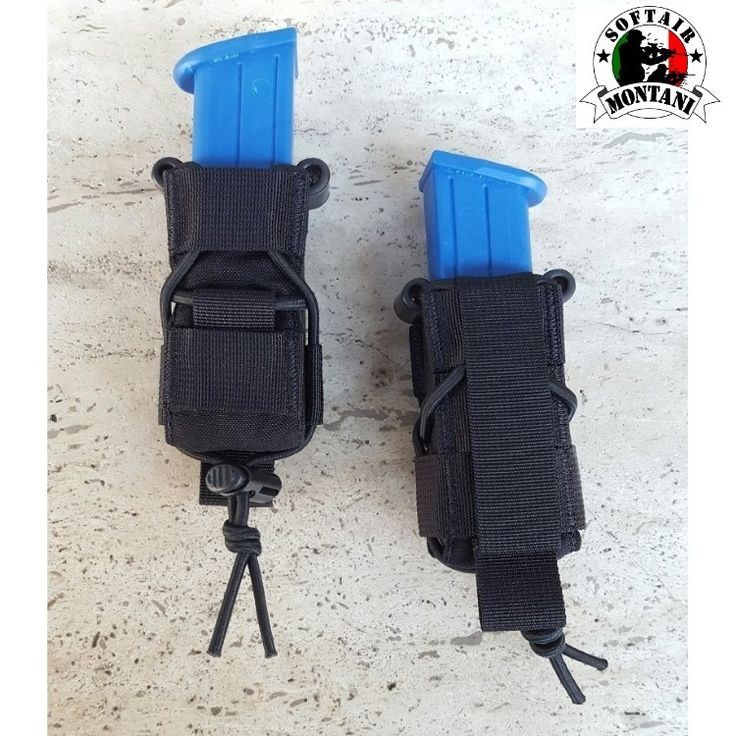 """""""TACO"""" STYLE SINGLE PISTOL MAG POUCH - BLACK"""