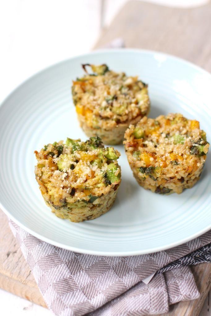 Mini broccoli-rijsttaartjes