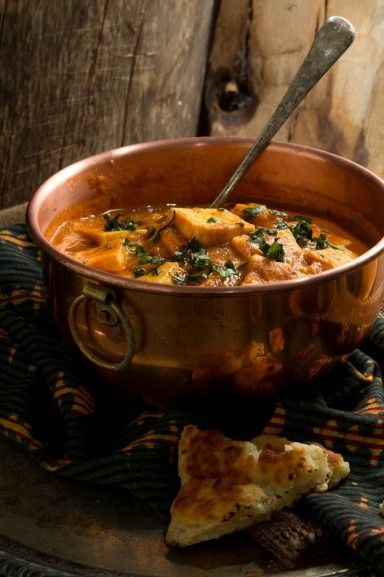 Butter Paneer (Paneer Makhani) - A classic restaurant style curry. Cubes of paneer cheese in a spicy tomato gravy. Perfect with naan or rice.- Recipe by Indiaphile.info